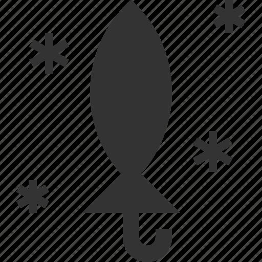 folded, snow, umbrella, winter icon