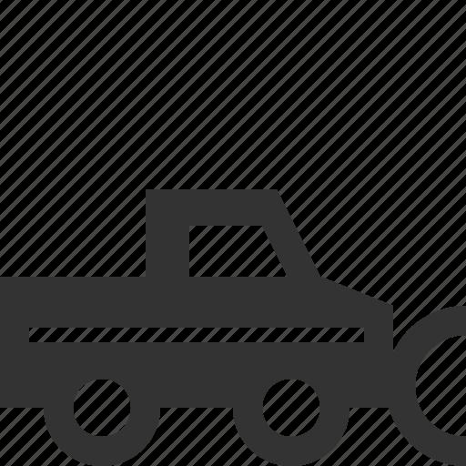 car, plow, snow, truck icon