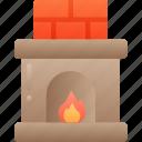december, fireplace, holidays, log fire, winter