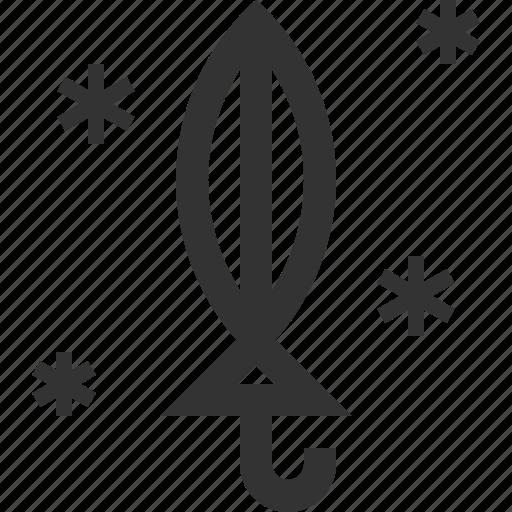 close, folded, umbrella, winter icon
