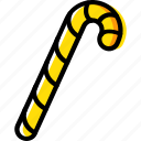 candy, cane, christmas, winter icon