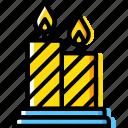 candles, christmas, fire, light, saint, winter icon