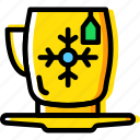 christmas, cup, drink, tea, winter icon