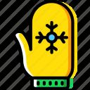 christmas, gloves, mitten, winter icon