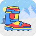 boot, climb, climbing, cold, snow, spike, winter icon