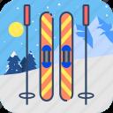 extreme, ski, snowboard, sport, winter icon