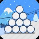 ball, snow, snowball, sport, winter icon