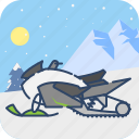 ski, snowmobile, sport, winter icon