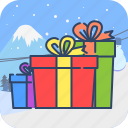 box, gift, present, winter icon