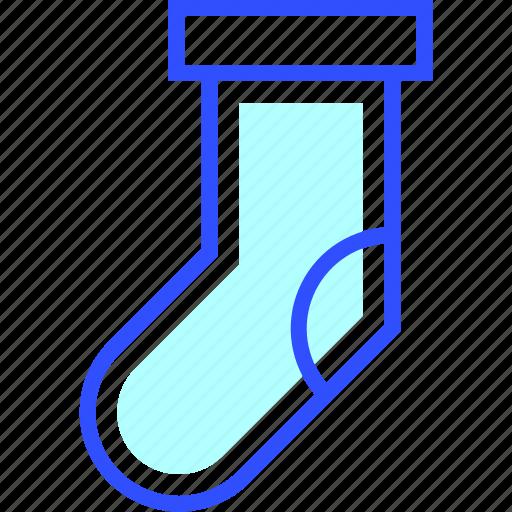 cold, holiday, season, sock, winter icon