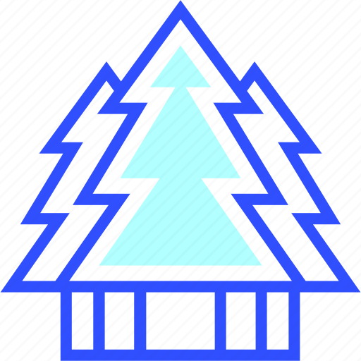cold, forest, holiday, season, winter icon
