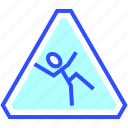 cold, holiday, season, sign, slippery, warning, winter icon