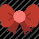 bow, christmas, decoration, winter icon