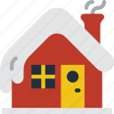 cabin, christmas, home, house, winter icon