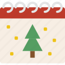 calendar, christmas, date, winter icon