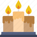 candle, christmas, fire, light, saint, winter icon