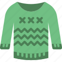 christmas, sweater, winter icon
