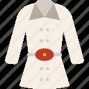 christmas, coat, winter icon