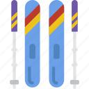 christmas, ski, sport, winter icon