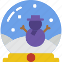 christmas, globe, snow, winter icon