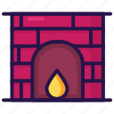 chimney, fireplace, room, warm icon