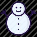 snowman, winter icon