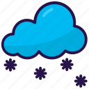 cloud, cloudy, snowflakes, weather, winter icon
