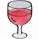 december, drink, holidays, wine, winter icon