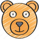 animal, bear, december, holidays, winter icon