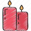 candles, december, holidays, light, winter icon