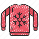 clothing, december, holidays, jumper, winter icon