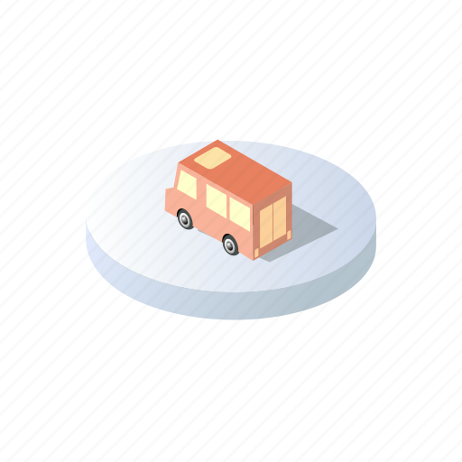 car, christmas, forest, holidays, isometric, landscape, winter icon