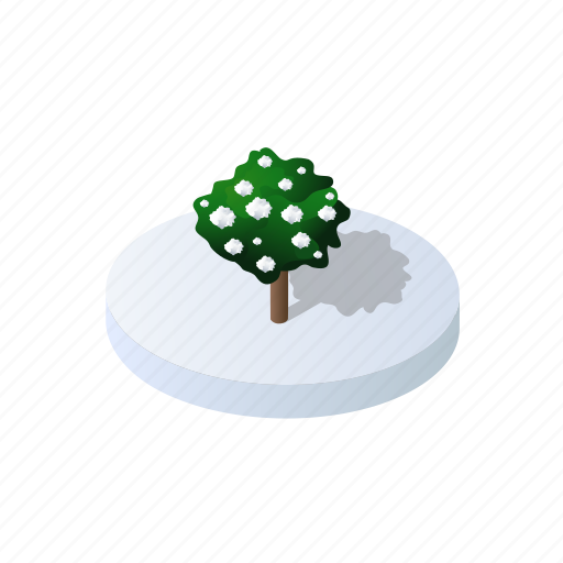christmas, forest, holidays, isometric, landscape, tree, winter icon