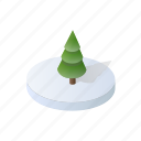 christmas, forest, holidays, isometric, landscape, tree, winter