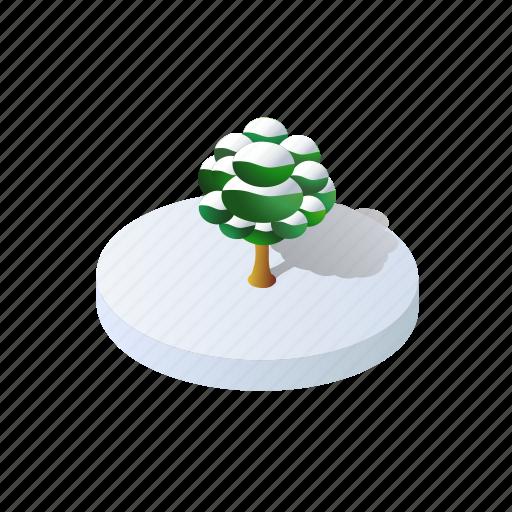 christmas, forest, holidays, isometric, landscape, tree, winter icon