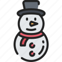 christmas, december, holidays, snowman, winter icon