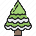 december, forest, holidays, trees, winter icon