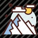 mountains, winter, holidays, snow icon