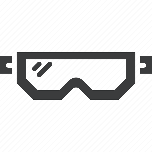 accessory, apparel, clothing, eyewear, goggles, protection, snow icon