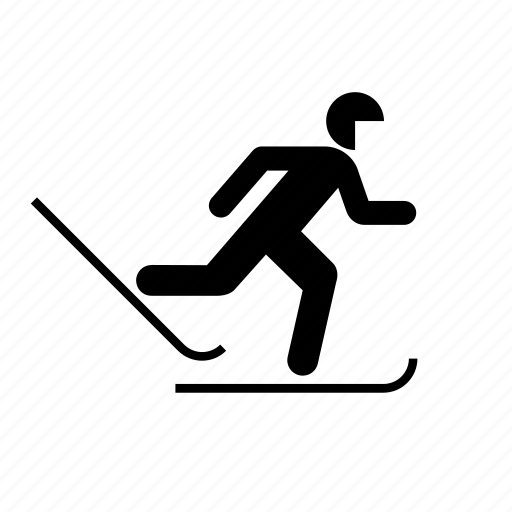cross-country, skiing, sport, winter icon