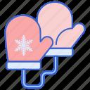 cold, glove, mittens, winter icon