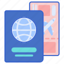 document, passport, travel, visa