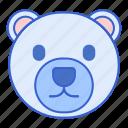 animal, bear, polar, snow icon