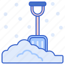 shovel, snow, weather, winter icon