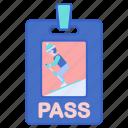 card, pass, ski, sport icon