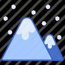 mountain, outdoor, scenery, snow icon