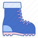 boots, shoes, snow, winter icon