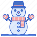 snow, snowman, weather, winter