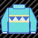clothes, fashion, sweater, winter icon