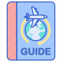 book, guide, travel, vacation icon